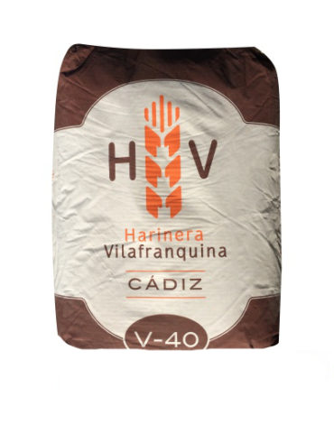 HARINA FUERZA V-40 HARINERA VILAFRANQUINA 25KG (UND)
