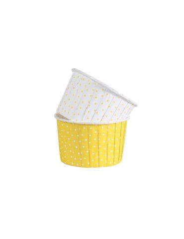 capsulas-cupcake-amarilla-lunares-culpit-24uds