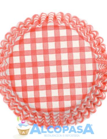 capsulas-cupcake-de-cuadros-rojos-54uds
