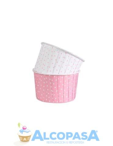 capsulas-cupcake-rosa-lunares-culpit-24uds
