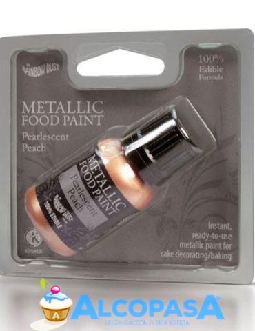 pintura-comestible-metalica-melocoton-perlado25ml