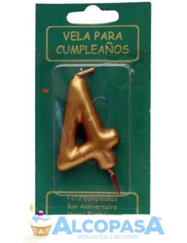 vela-oro-no4-elegance-7cm-ud