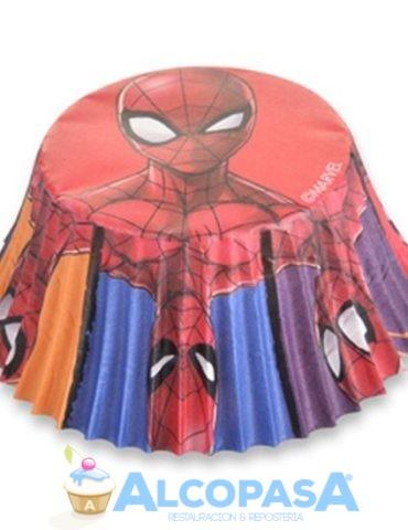 capsulas-cupcake-spiderman-o7cm-blister-50uds