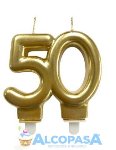 vela-aniversario-oro-50-anos-ud