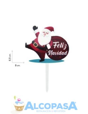 topper-feliz-navidad-santa-claus-rojo-ud